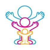 9464030-emblema--familia-amistosa