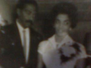 foto de mis padres el día de sus nupcias..30 diciembre de 1960. Varadero, Cuba.